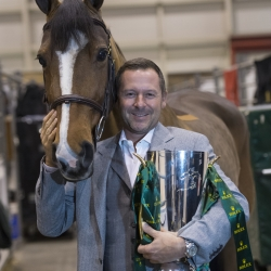 Eric Lamaze with the Rolex IJRC Top 10 Trophy