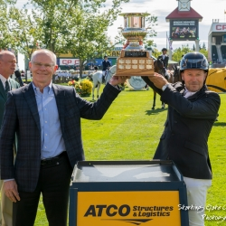 Eric Lamaze with Atco Trophy