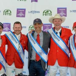 Francois Lamontagne, Eric Lamaze, Mark Laskin, Ian Millar and Tiffany Foster