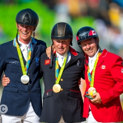 Peder Fredricson, Nick Skelton and Eric Lamaze