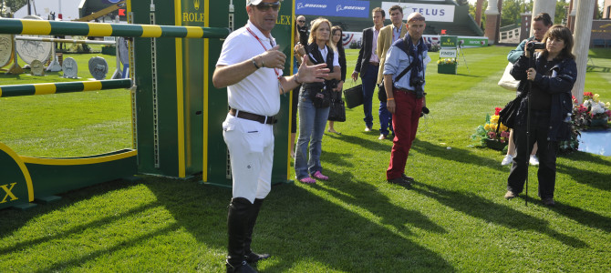 "Rolex Testimonee Eric Lamaze Welcomes Guests to Spruce Meadows ""Masters"""