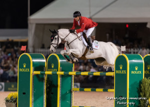 Eric Lamaze of Schomberg, ON, anchored the Canadian Team riding Check Picobello Z, owned by Artisan Farms and Torrey Pines Stable.