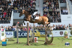 Canadian Olympic Champion Eric Lamaze and Fine Lady 5 claimed their second victory at CSIO5* La Baule, France, by winning the €25,000 1.50m Prix S.C.H. La Baule – Cap Atlantique on Saturday, May 14.  Photo by PSV Jean Morel