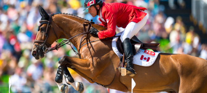 Canadian Show Jumping Team Takes Fourth Following Jump-Off for Bronze