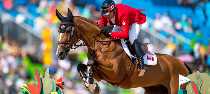 2008 Olympic Champion Eric Lamaze Leads Canada into Team Final in Rio